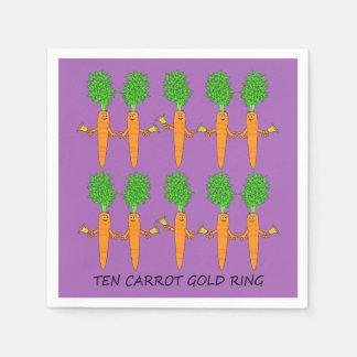 Ten Carrot Gold Ring Paper Napkins