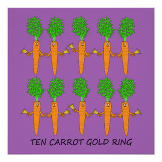Ten Carrot Gold Ring Poster