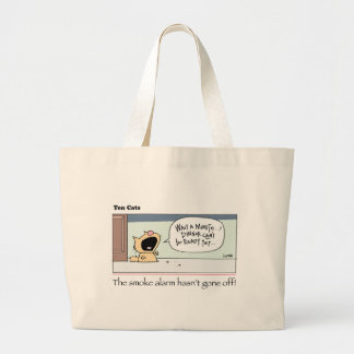 Ten Cats - b -  Chesney - by  grahamharrop Large Tote Bag