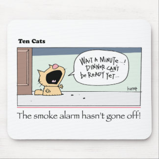 Ten Cats - b -  Chesney - by  grahamharrop Mouse Pad