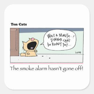 Ten Cats - b -  Chesney - by  grahamharrop Square Sticker