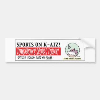 Ten Cats Bumper sticker - a