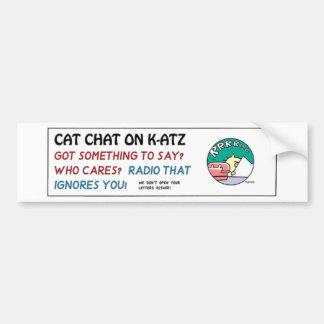 Ten Cats bumper sticker - b