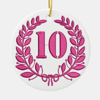 ten celebration imitation embroidery ceramic ornament