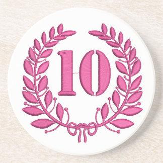 ten celebration imitation embroidery coaster