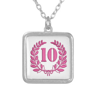 ten celebration silver plated necklace