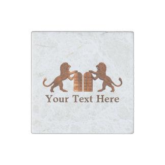 Ten Commandments and Lions Stone Magnets