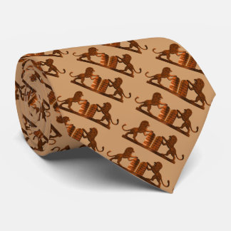 Ten Commandments and Lions Tie