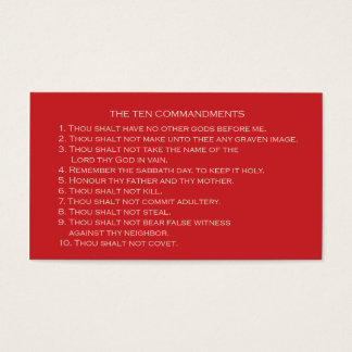 Ten Commandments card with customizable back