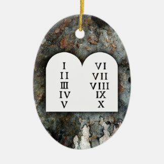 Ten Commandments Ceramic Ornament