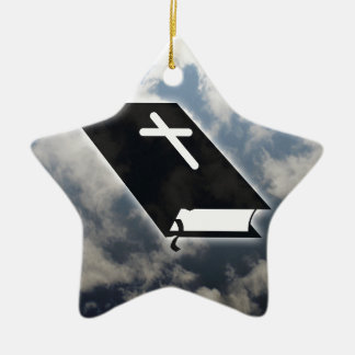 Ten Commandments Ceramic Star Ornament