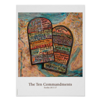 Ten Commandments Classroom Poster