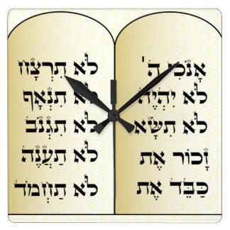 Ten commandments clock