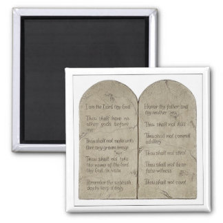 Ten Commandments in English Magnet