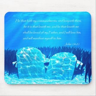 Ten Commandments Mouse Pad