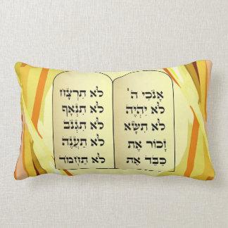 Ten commandments pillow