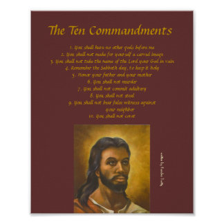 ten commandments poster