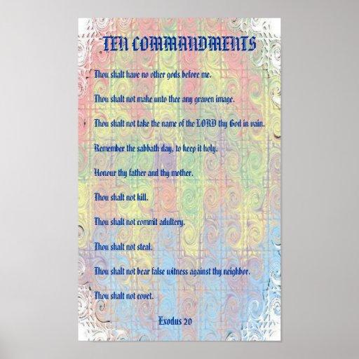 Ten Commandments Print