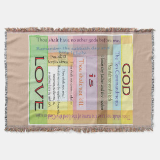 Ten Commandments Throw Blanket