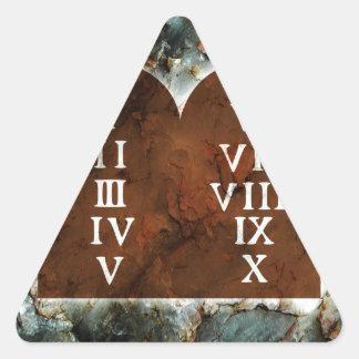 Ten Commandments Triangle Sticker