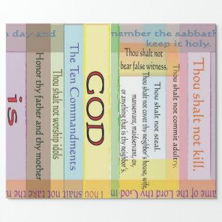 Ten Commandments Wrapping Paper