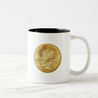 Ten Dollar Gold Indian Two-Tone Coffee Mug