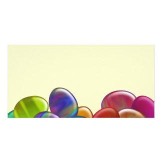 Ten Easter Eggs Rainbow Photo Card
