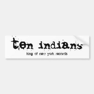 ten indians bumper sticker