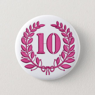 ten laurels - jubilee, imitation of embroidery 2 inch round button