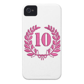 ten laurels - jubilee, imitation of embroidery iPhone 4 Case-Mate cases