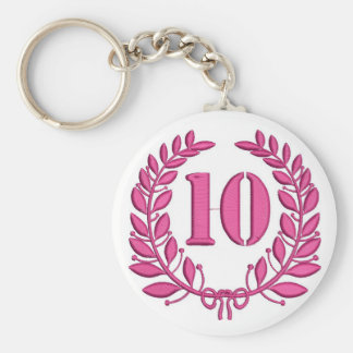 ten laurels - jubilee, imitation of embroidery keychain