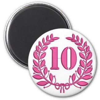 ten laurels - jubilee, imitation of embroidery magnet