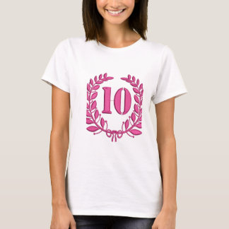 ten laurels - jubilee, imitation of embroidery T-Shirt