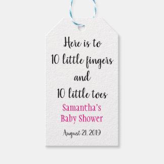 Ten Little Fingers Ten Little Toes Baby Shower Tag
