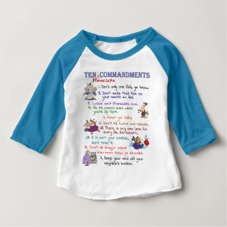 Ten Minnesota Commandments Baby T-Shirt