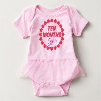Ten Months Old Baby Girl One Piece Body Suit Baby Bodysuit
