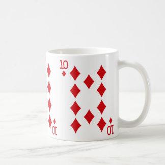 Ten of Diamonds Playing Card Coffee Mug