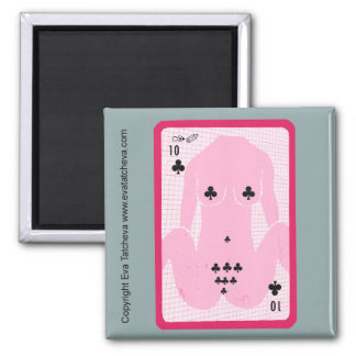 'Ten Of Spades' Designer Fridge Magnet