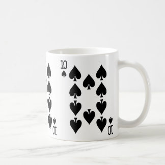 Ten of Spades Playing Card Coffee Mug