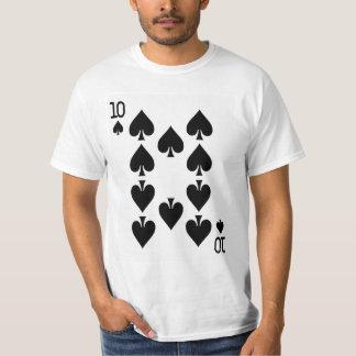Ten of Spades Playing Card T-Shirt