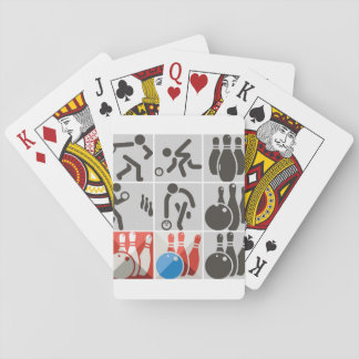 Ten Pin Bowling Icons Playing Cards