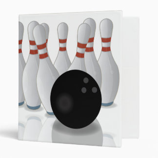 Ten-pin bowling vinyl binder