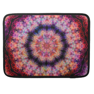 Ten Pointed Radial Colorful Kaleidoscope Sleeve For MacBook Pro