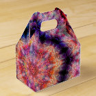 Ten Pointed Radial Colourful Kaleidoscope Favor Box