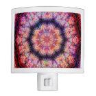 Ten Pointed Radial Colourful Kaleidoscope Night Light