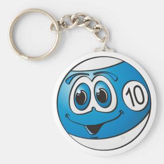 Ten Pool Ball Cartoon Keychain
