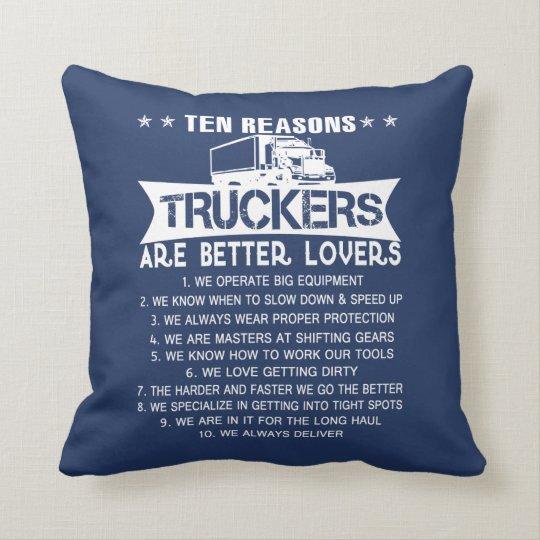 Ten REASONS - TRUCKERS Throw Pillow