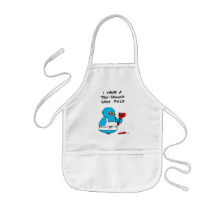 Ten-Second Drop Rule Kids Apron