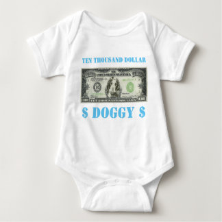 Ten Thousand Dollar Doggy Baby Grow Baby Bodysuit