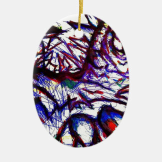 Ten Thousand Pounds of Pain Ceramic Oval Ornament
